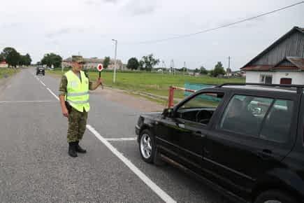 Пограничники задержали нетрезвого водителя