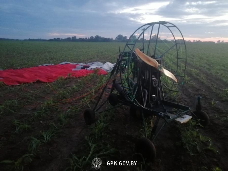 На белорусско-литовской границе пограничники применили оружие по беспилотному мотопараплану